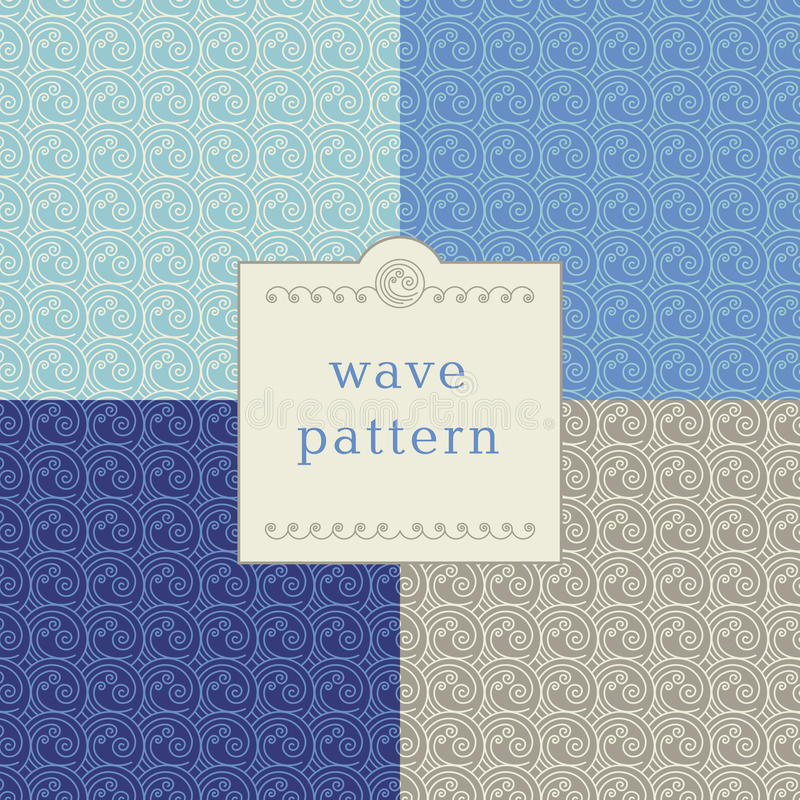 Modern wave pattern stock images