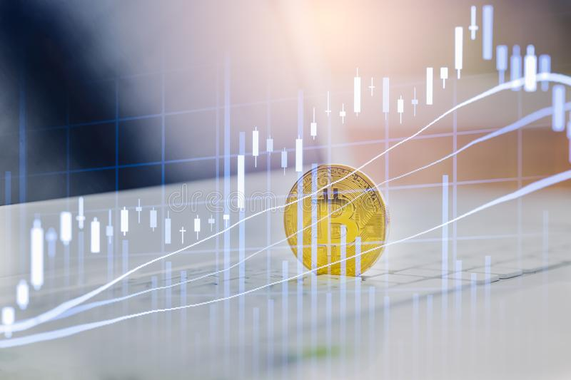 Modern way of exchange. Bitcoin is convenient payment in global economy market. Virtual digital currency and financial investment. Trade concept. Abstract stock images