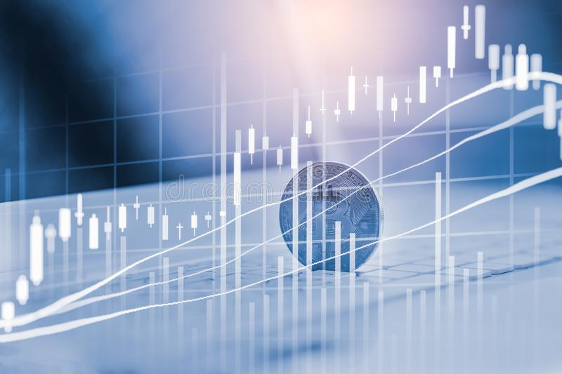 Modern way of exchange. Bitcoin is convenient payment in global economy market. Virtual digital currency and financial investment. Trade concept. Abstract stock image
