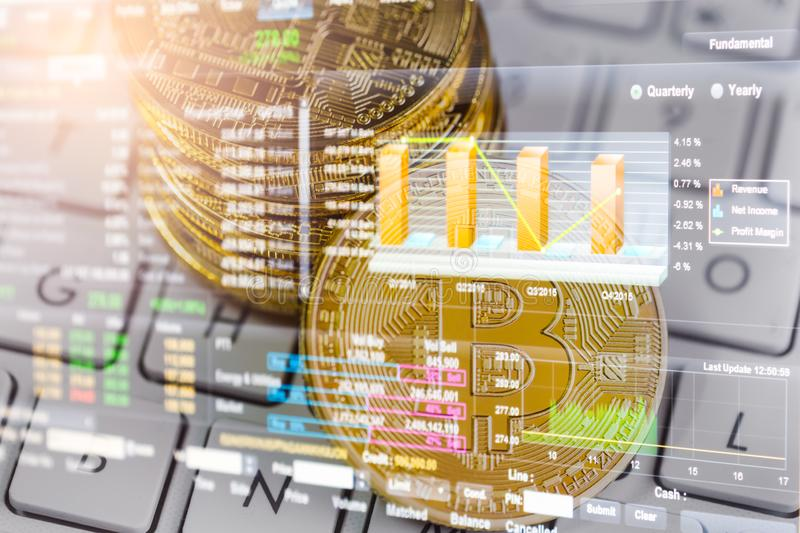 Modern way of exchange. Bitcoin is convenient payment in global economy market. Virtual digital currency and financial investment. Trade concept. Abstract stock photos
