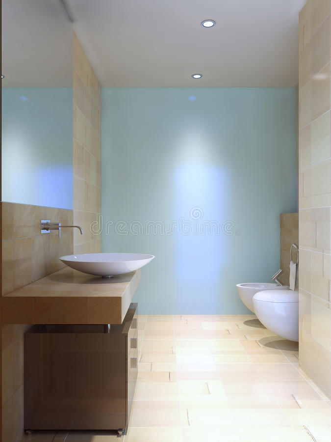 Modern wc-idé vektor illustrationer