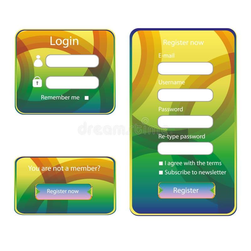 Modern Web Card  Form Stock Photo