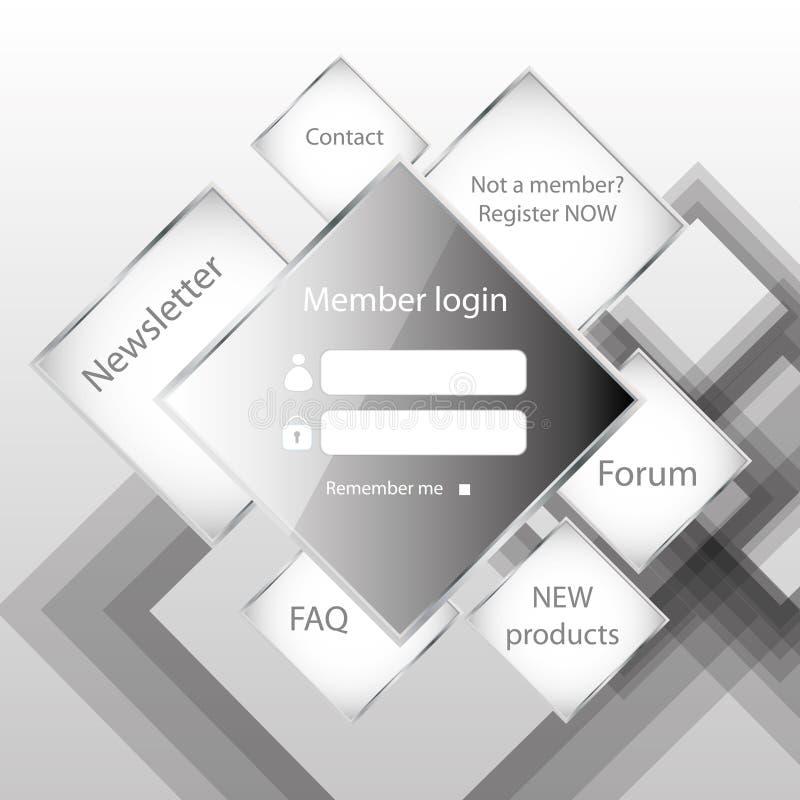Download Modern web card  form stock vector. Image of register - 26297837