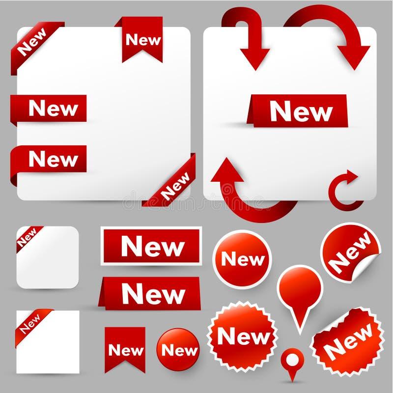 Modern web design elements stock illustration