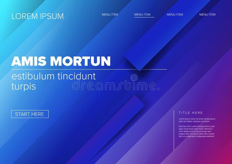 Modern landing web page template. Modern web landing page, flyer or background template vector illustration