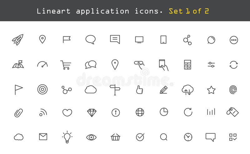 Modern web and mobile application pictograms vector illustration