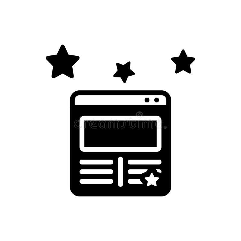 Black solid icon for Modern website, beautiful and stylish vector illustration