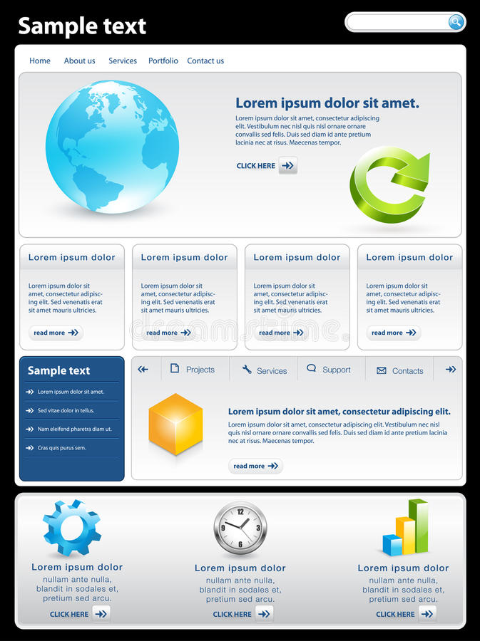 Modern website template. Modern clean website business template vector illustration