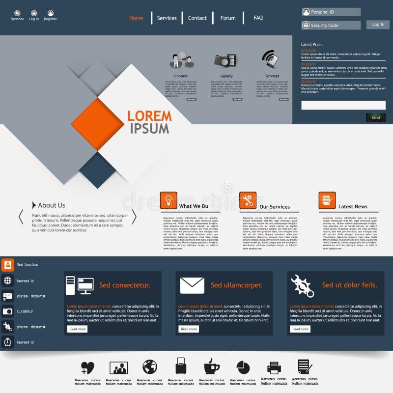 Modern Website Template Stock Vector Illustration Of Headre - Modern website templates