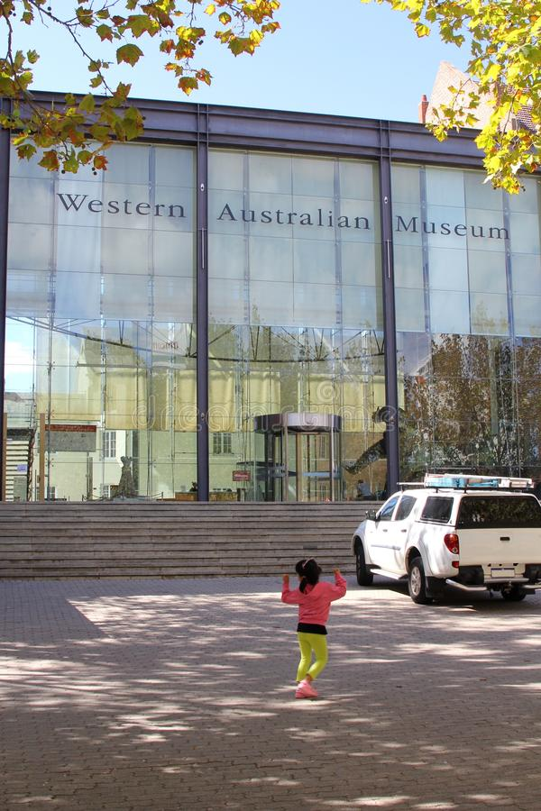 Modern Western Australian Museum is a tourist attraction, Perth, Australia royalty free stock image
