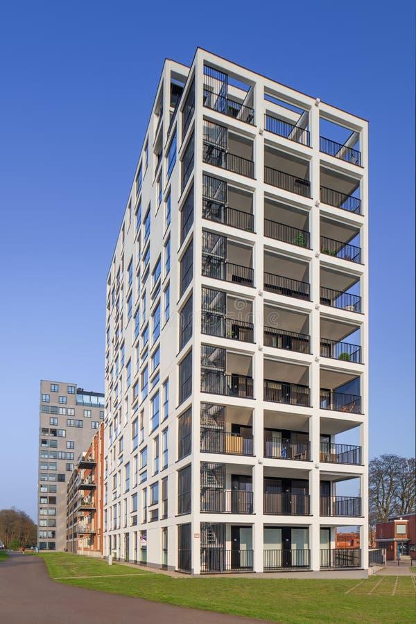 Free Modern White Apartment Building, Turnhout, Belgium Stock Photo - 92015400