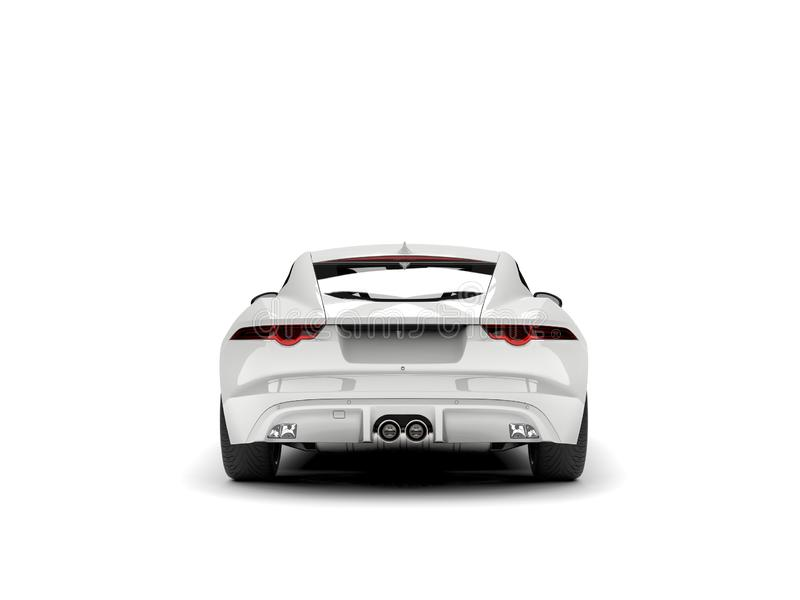 Modern white concept sports car - back view stock illustration