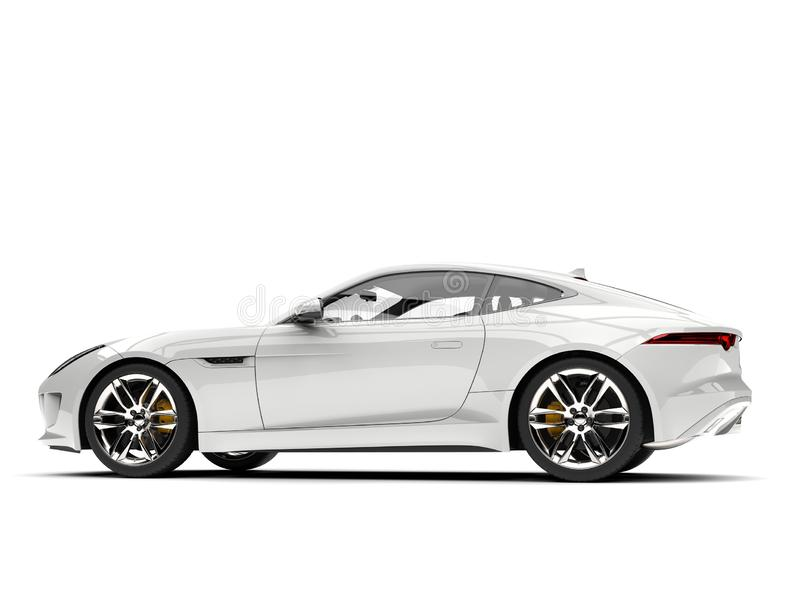 Modern white concept sports car - side view royalty free illustration