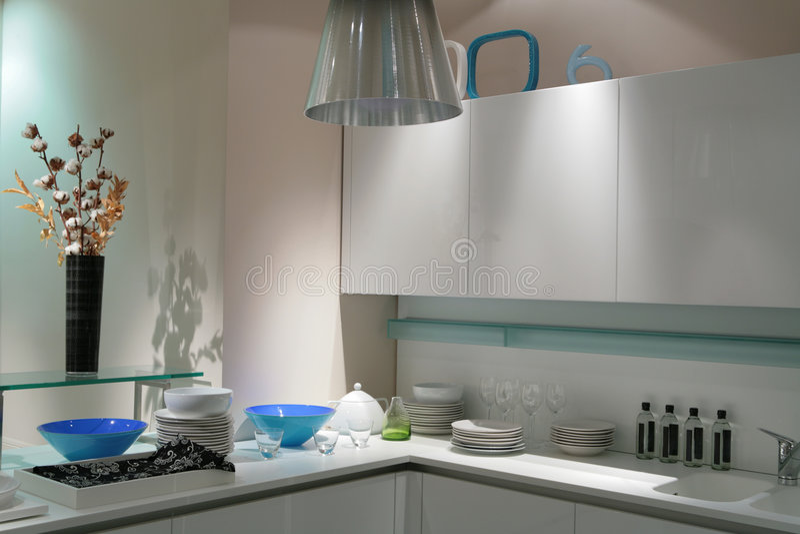 modern white för kök royaltyfria foton