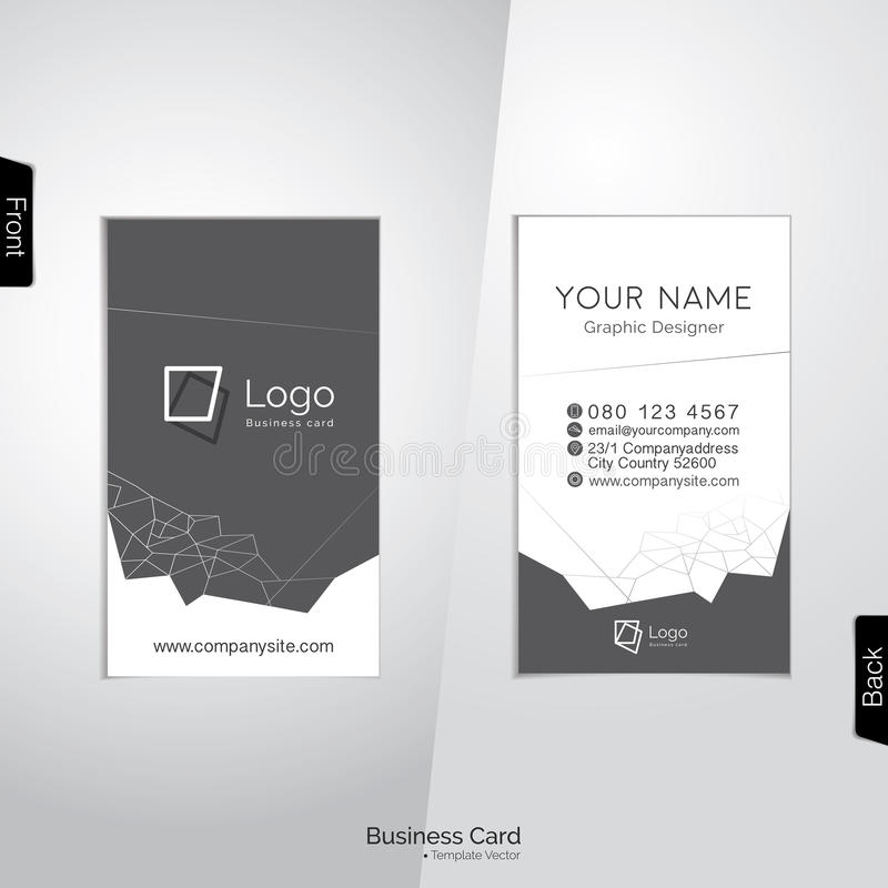 Modern white and gray vertical business card stock vector download modern white and gray vertical business card stock vector illustration of template elegant colourmoves