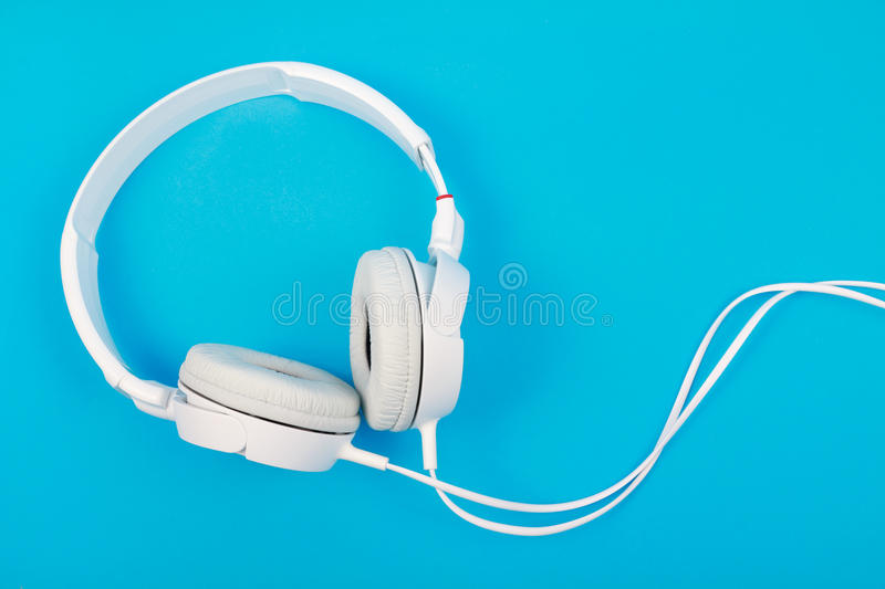 Download Modern white headphone stock photo. Image of technology - 26394626