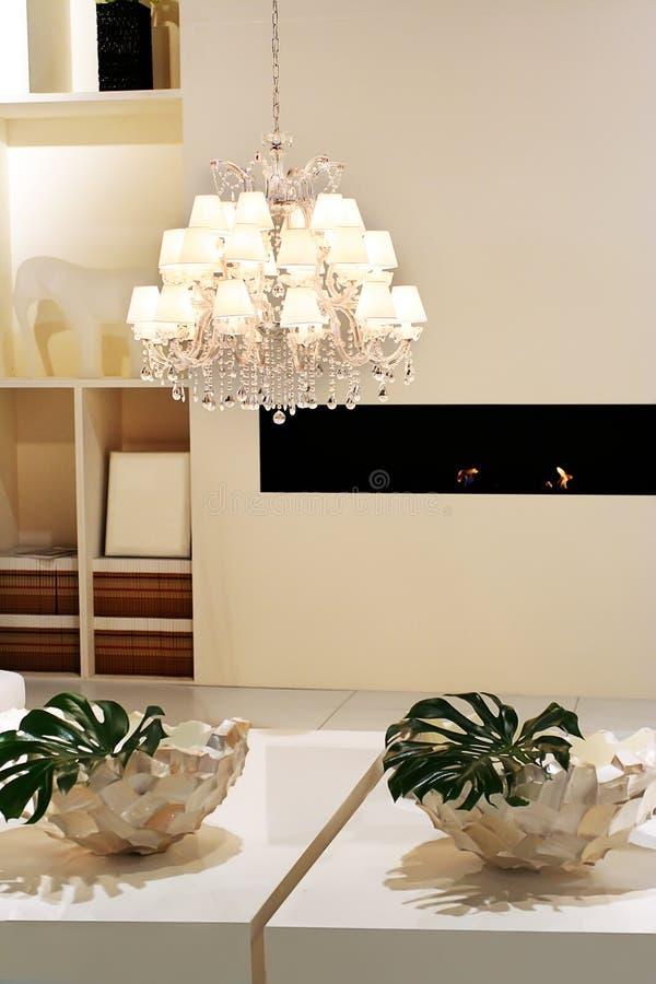 Modern white interior royalty free stock photos