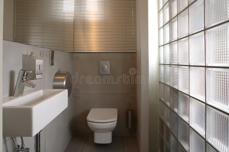 Modern White Luxury Bathroom royalty free stock images