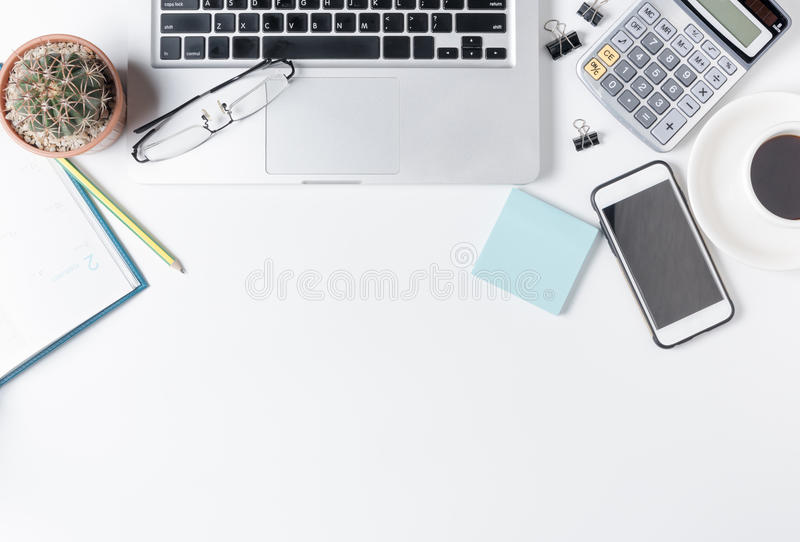 modern white office desk. Download Modern White Office Desk Table With Laptop Stock Image - Of Copy, Cactus S