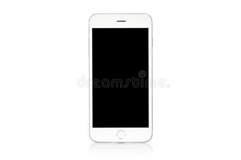 Modern white smartphone stock photos