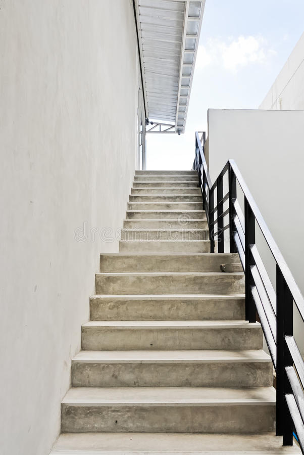 Modern white stair royalty free stock photography