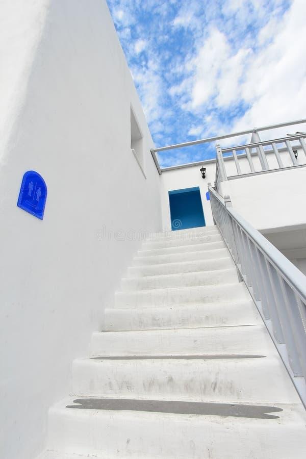 Download Modern white stair stock photo. Image of render, railing - 24990114