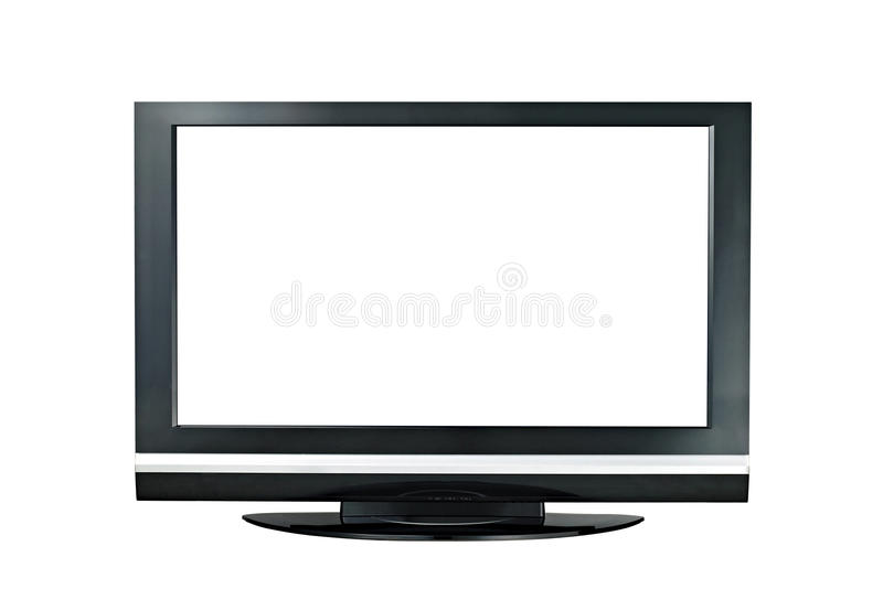 Modern widescreen lcd tv monitor isolated royalty free stock photo