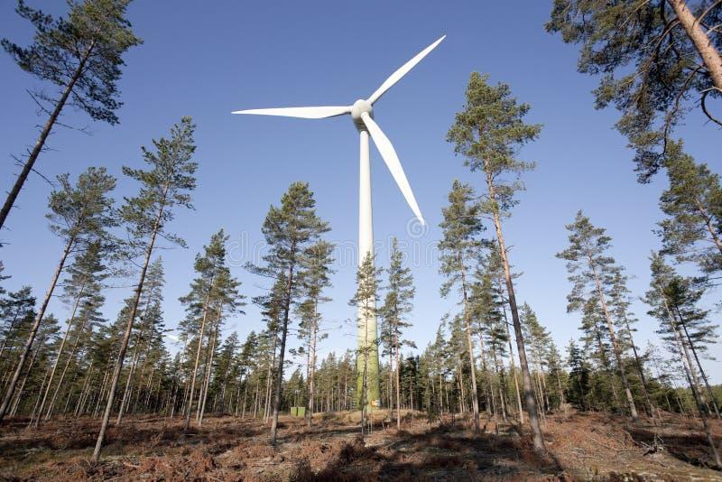 modern windmill royaltyfria foton