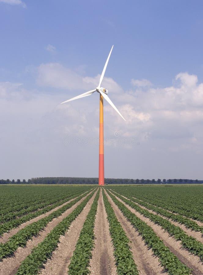 Modern windmill 4 royalty free stock photo