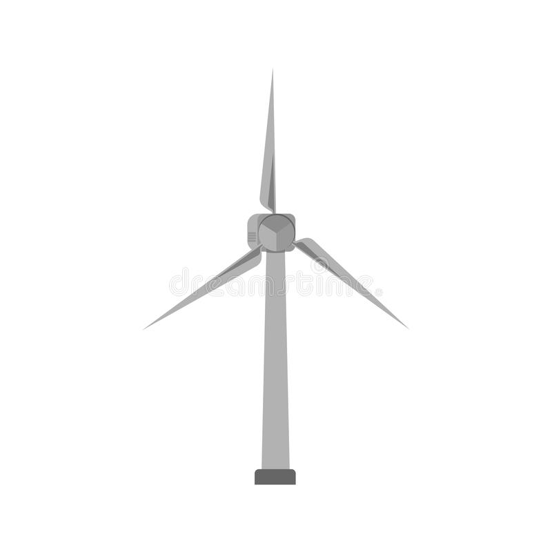 Modern windmill isolated vector illustration. royalty free stock photo