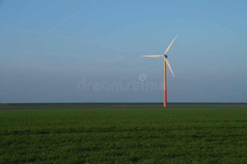 Modern windmill - wind turbine. Modern windmill, wind turbine, Almere Poort, The Netherlands (Holland stock photo