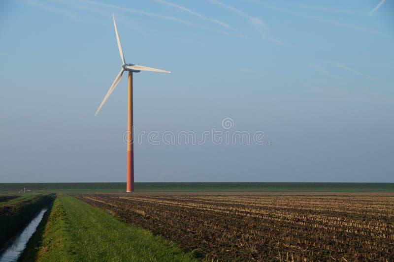 Modern windmill - wind turbine. Modern windmill, wind turbine, Almere Poort, The Netherlands (Holland stock images
