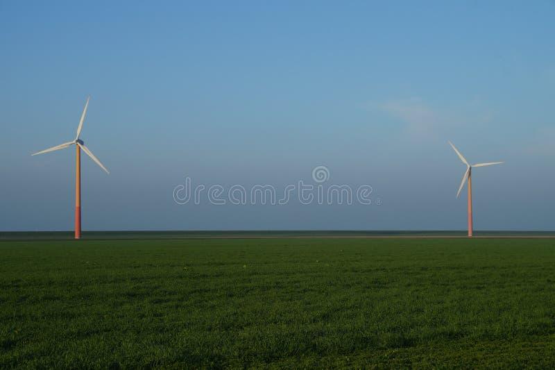 Modern windmill - wind turbine. Modern windmill, wind turbine, Almere Poort, The Netherlands (Holland stock photography