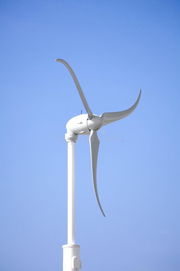 Modern Windmills with Blue Sky stock photo