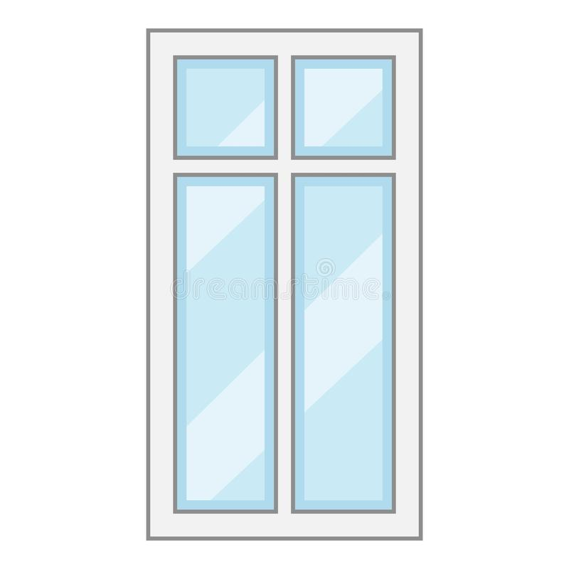 Modern Window Frame Icon, Cartoon Style Stock Vector - Illustration ...