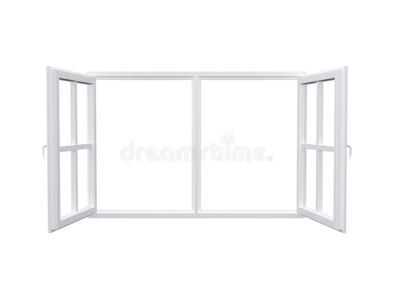 Modern Window. Isolated on white background vector illustration