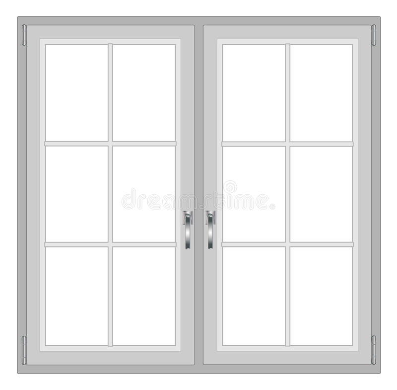 Modern window isolated on white background. With copy space eps 10 vector illustration