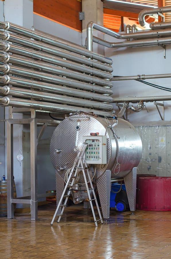 Modern wine manufacturing royalty free stock photo