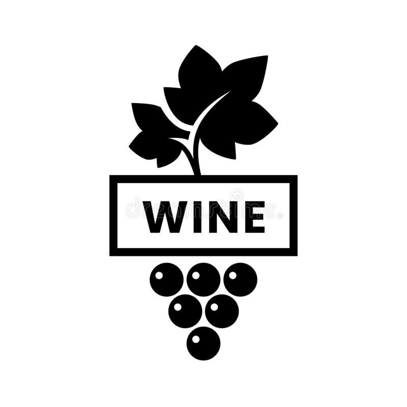 Modern wine vector logo sign for tavern, restaurant, house, shop, store, club and cellar isolated on white background stock image