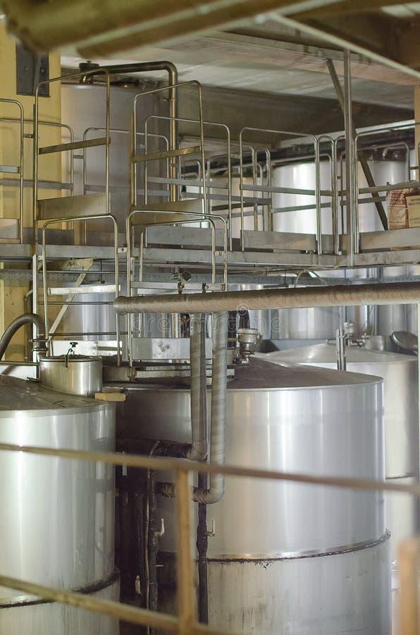 Modern winery tanks. royalty free stock photo