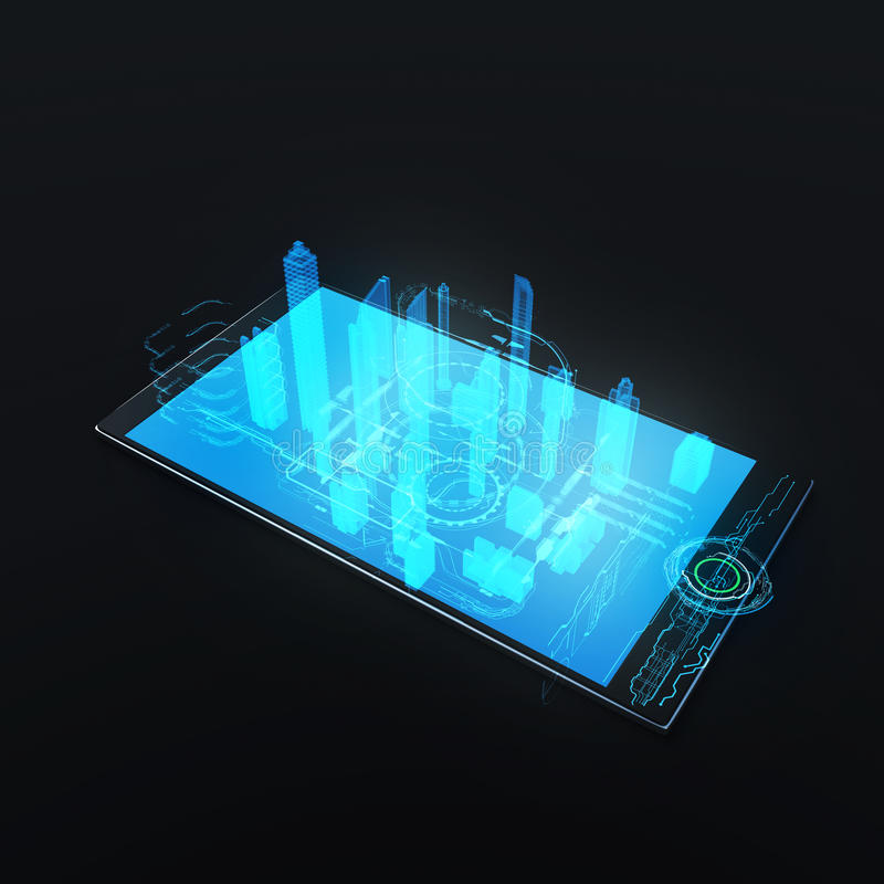 Modern wireless technology stock illustration