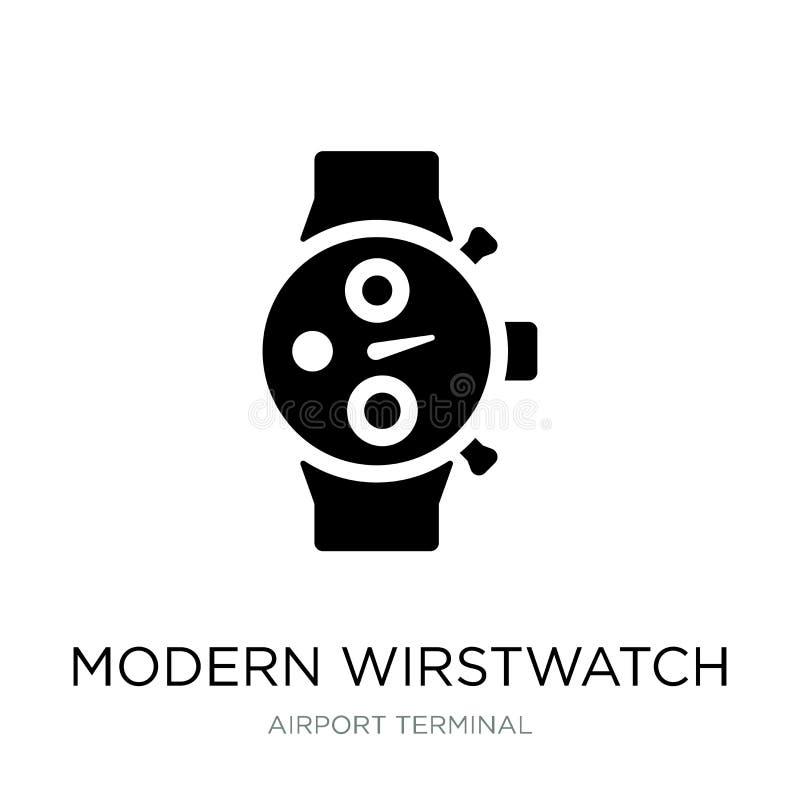 Modern wirstwatch icon in trendy design style. modern wirstwatch icon isolated on white background. modern wirstwatch vector icon. Simple and modern flat symbol stock illustration