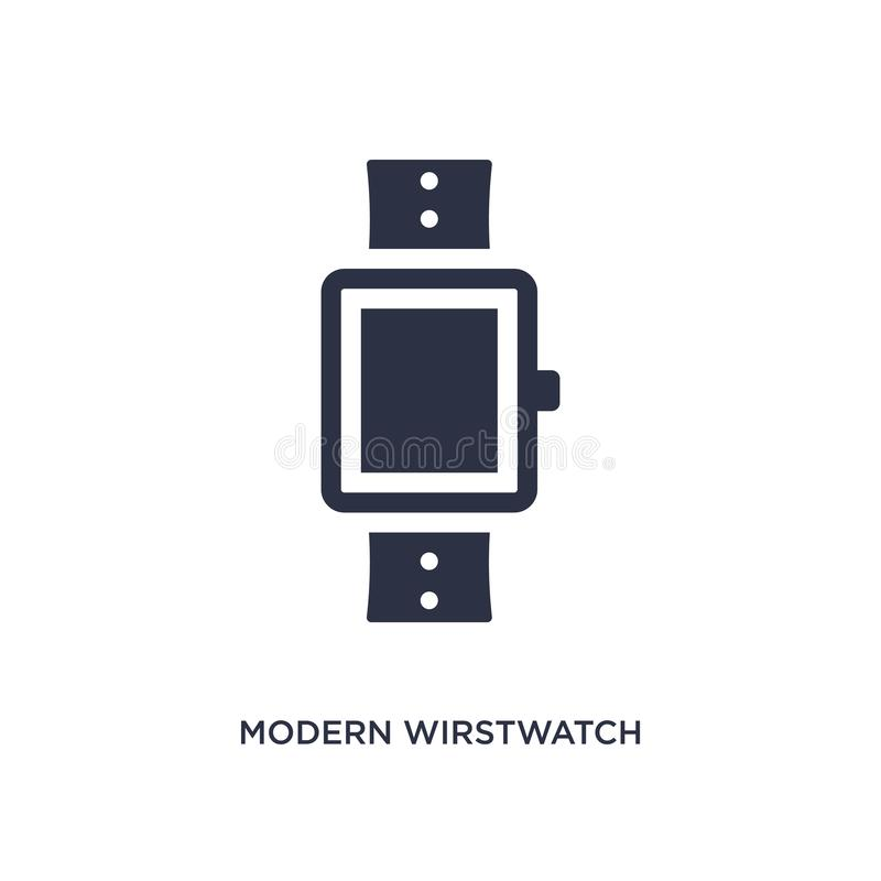 Modern wirstwatch icon on white background. Simple element illustration from airport terminal concept. Modern wirstwatch icon. Simple element illustration from stock illustration
