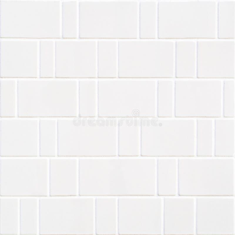 Modern wit bakstenenmozaïek stock fotografie