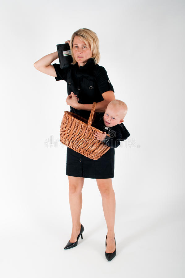 Modern woman stock images