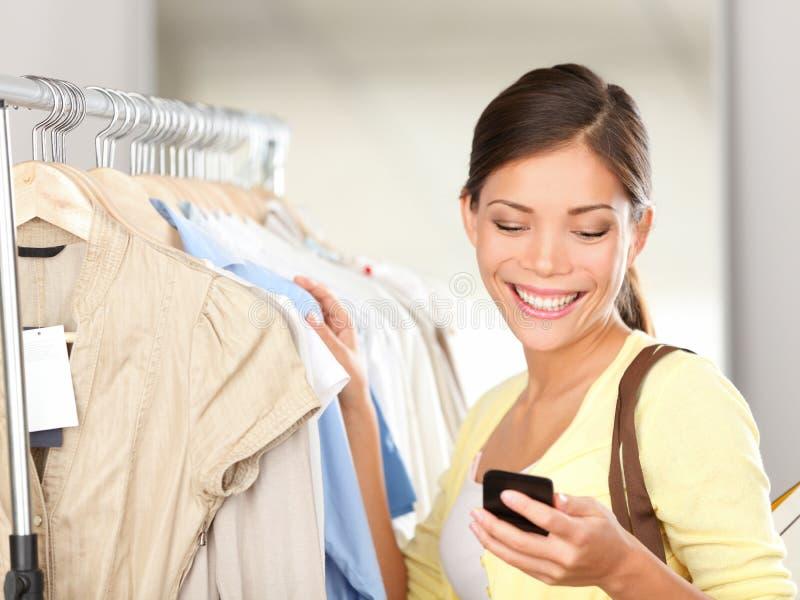 Modern woman shopping royalty free stock photos