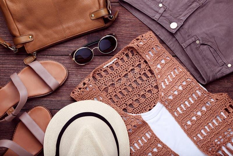 Modern women`s clothes royalty free stock photos