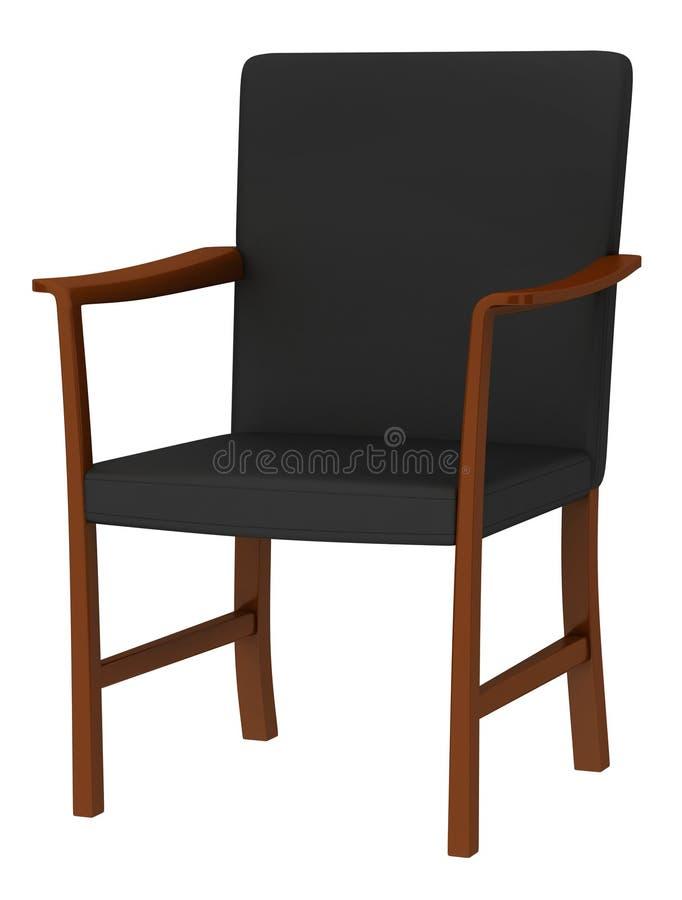 Modern wood chair royalty free illustration