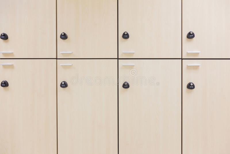 Modern wood locker royalty free stock photography