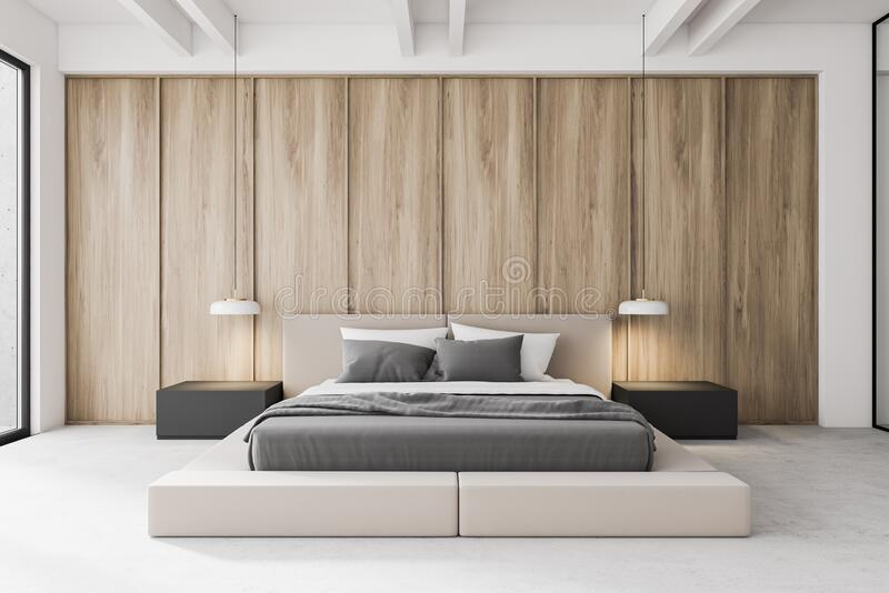 Modern Wooden Master Bedroom Interior Stock Illustration Illustration Of Home Furniture 172591614